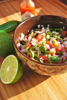 Pico de gallo - salsa mexicaine - Ma salsa mexicaine préférée pour accompagner les tacos