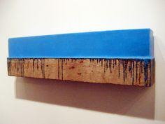 "Johannes Girardoni, 2013, beeswax, pigment and wood 12 x 44 x 6"""