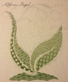 So after I finished my RSN Crewel piece, I wanted to practice crewel some more. I also thought that if I put a new piece on my frame it wo...