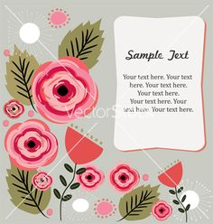 Floral background vector - by Galitt on VectorStock®