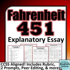 "farenheit 451 2 essay Below you will find four outstanding thesis statements / paper topics for ""fahrenheit 451"" by ray bradbury that can be used as essay starters."