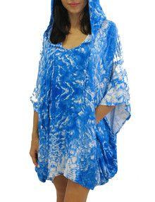 2015 Mikoh Swimwear Cardiff Poncho Cover-Up Whitewater Fiji