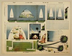 Krippe. La sainte Crêche. The holy Crib. Nacimiento. Modellierbogen. Einfacher Bogen. Nr. 1069.