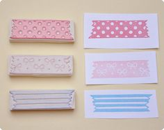 3 pcs hand carved rubber stamps washi tape AT by MemiTheRainbow #StudioCalicoPinToWin