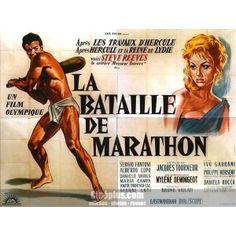 La Bataille de Marathon (Jacques Tourneur, 1959). Le fameux coureur de, incarné par Steve-Hercule-Reeves. Des Grecs au cœur pur contre les barbares perses et un combat de cavalerie … qui n'a jamais eu lieu, agrémenté d'une bataille navale aux belles séquences sous-marines.