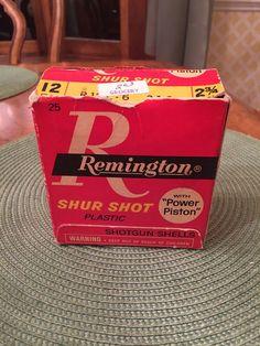 Vintage 12Ga Remington Shur Shot Box With Power Piston Box Only #Remington