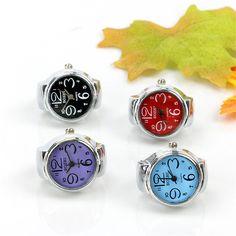 Creative Fashion Steel Round Elastic Quartz Finger Ring Watch Lady Girl Gift  | eBay