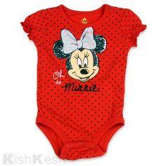 Minnie Mouse Girls Polka Dot Creeper. #Disney #Mickey #Onesies