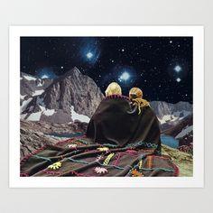 SLEEPLESS Art Print by Beth Hoeckel Collage & Design