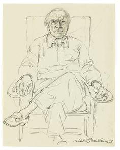 Niklaus Stoecklin (Swiss, 1896 – 1982)  The Portrait of Carl Jung, 1955