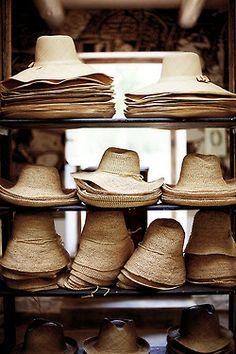∷ Variations on a Theme ∷ Collection of straw hats