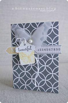 Butterfly die cut card