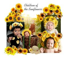 """""""Children of the Sunflowers"""" by belladonnasjoy ❤ liked on Polyvore featuring art"""