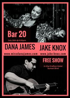 Dana James & Jake Knox play a FREE show at Bar 20 at the Grafton Hotel on July So happy to be joined by Karlina Covington on background vocals. Hotel Sunset, Free Shows, Event Flyers, At The Hotel, Bar, Street, Happy, Movie Posters, Film Poster