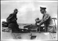 Rommel and Gen. Kesselring in North Africa.