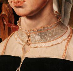 Portrait of Machtelt Suijs, (detail), c. 1540-1545, by Maerten van Heemskerck (Dutch, 1498–1574)
