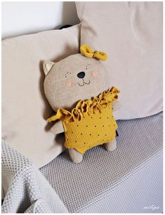 Cat doll coco stuffed cat stuffed animals etsy introducing a new cat to a household with a resident cat Sewing Stuffed Animals, Stuffed Animal Cat, Stuffed Animal Patterns, Handmade Stuffed Animals, Pet Toys, Doll Toys, Kids Toys, Tilda Toy, Fabric Toys
