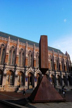 The Obelisk stands in front of the Suzzallo library. #youW Photo by Katherine Snider