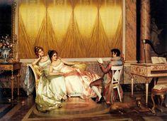 Vittorio Reggianini   (Italian, 1858-1938)   -  The Poetry Reading