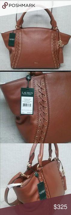 e102a7059502 Ralph Lauren Ashfield Satchel Handbag  498 New Authentic Ralph Lauren  Ashfield Adaline Medium Satchel Brand