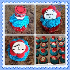 Dr. Seuss cupcakes! These were so much fun to make. Message me for details!