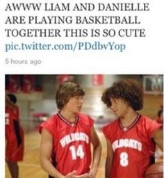 Hahahahahhahahaha. When I first looked at it I thought Liam and Maz. But Danielle is soooo much funnier hahaha