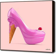 The Surreal Art of Paul Fuentes - Design Milk Rookie Red Velvet, Paul Fuentes, Ice Cream Shoes, Marshmello Wallpapers, High Heels Boots, Inspiration Art, Modern Pop Art, Shoe Art, Art Shoes