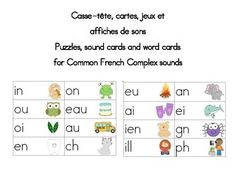 French Word Wall Sound Cards and games Cartes de sons communs Word Wall Headers, French Posters, French Resources, School Grades, French Immersion, French Words, Group Work, Kindergarten Literacy, Teaching French