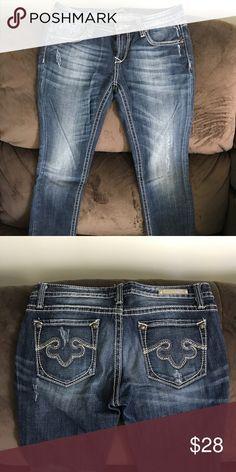 Express Rerock Jeans! Rerock Express skinny petite jeans... like new! Express Jeans Skinny