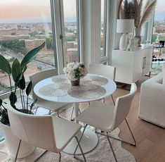 Dining Table In Living Room, Living Room Setup, London Apartment Interior, Decor Interior Design, Interior Decorating, Interior Modern, Dream House Interior, New Home Designs, House Rooms