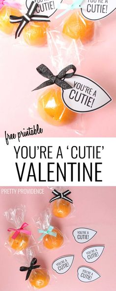 These Cutie Valentine free printables go perfectly with a clementine or mandarin orange for a healthy non-candy Valentine idea!