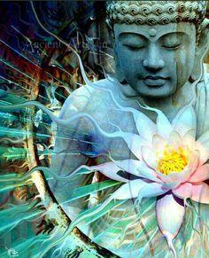 ❤ Buddha and lotus flower