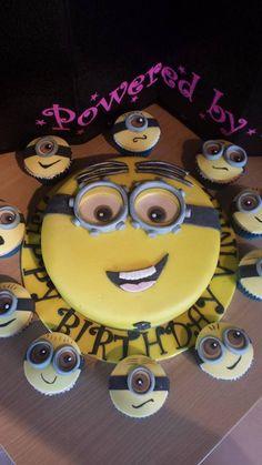 Minion cake and cupcakes x