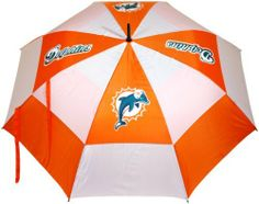 "NFL Miami Dolphins 62-Inch Double Canopy Umbrella by Team Golf. $27.99. Double canopy wind protection design. 4 location imprint and printed sheath. 62"" Umbrella. 100% nylon fabric. Auto open button. -1. NFL Miami Dolphins 62-Inch Double Canopy Umbrella"