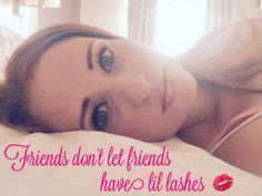 Friends don't let friends have lil lashes. Younique