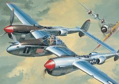 P-38J Lightning 'Marge' (Jack Leynnwood, Revell box art)