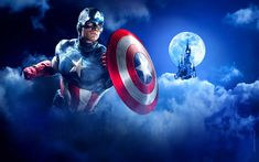 Indir duvar kağıdı 4k, Kaptan Amerika kalkanı, süper kahramanlar, Marvel Comics