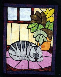 Stained Glass Cat by Kay Schlumpf