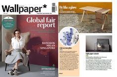 Wallpaper publications, our #blosa desk! #wallpaper #press #bolsa #desk #wewood