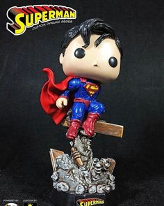 "Superman Custom Funko Pop by (@igeek_customs) on Instagram: ""#FeatureRelease Superman Custom Dynamic Series Price: 130USD inclusive of shipping and Paypal…"""