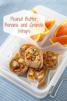 Easy lunch recipes: Peanut Butter, Banana and Granola recipes