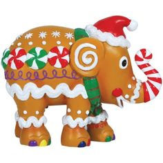 Elephant Parade Gingerphant Resin Collectible Figurine Statue in Gift Box Happy Elephant, Asian Elephant, Elephant Love, Elephant Stuff, Christmas In July, Christmas Ornaments, Christmas Elephant, Westland Giftware, Elephant Parade