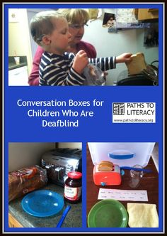 An overview of conversation boxes for children with a combined vision and hearing loss, with a hands-on example of how they can be used to develop communication skills and basic concepts