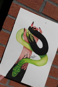 I really love this draw Snake Hand