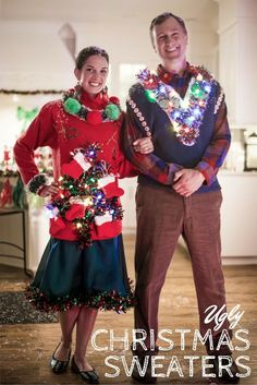 Hot and flashy, Christmas sweater parties are popular for a reason. If you can't beat them, join them. And if you can't find an ugly Christmas sweater, make one. We have all the dashing, high-tack flash right here.