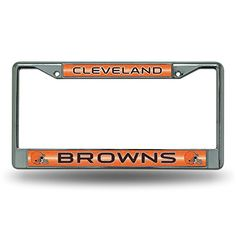 NFL Bling Chrome Plate Frame  http://allstarsportsfan.com/product/nfl-bling-chrome-plate-frame/?attribute_pa_teamname=cleveland-browns  Impact-resistant chrome-finish metal frame Measures 12-Inch by 6-Inch High quality frame