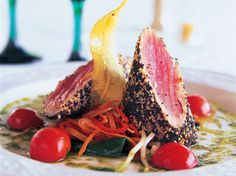 Seared tuna from the Coral Reef Club restaurant in Barbados