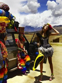 Daria Werbowy in Cuzco, Peru by Mario Testino for Vogue UK