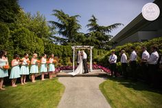 Pitt Meadows Golf Club offers an outdoor ceremony venue in their wedding garden. as seen on BRIDE.Canada (Photocred to Isaac wray photography) Golf Wedding, Wedding Reception, Wedding Venues, Wedding Ideas, Indoor Ceremony, Event Management, Vancouver, Things To Come, Canada