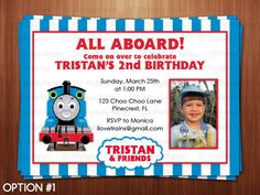 Thomas The Train Birthday Invitation Personalized DIY Printable - Party invitation template: train party invitations templates